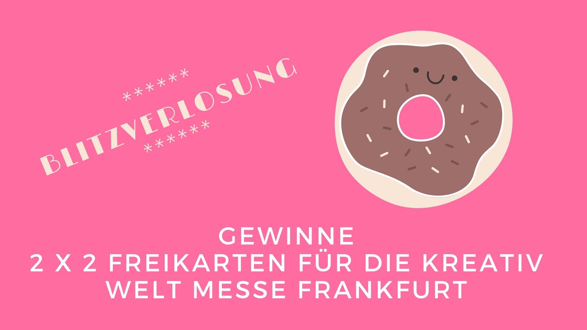 Blitzverlosung! Gewinne 2×2 Freikarten für die Kreativ Welt Messe Frankfurt!