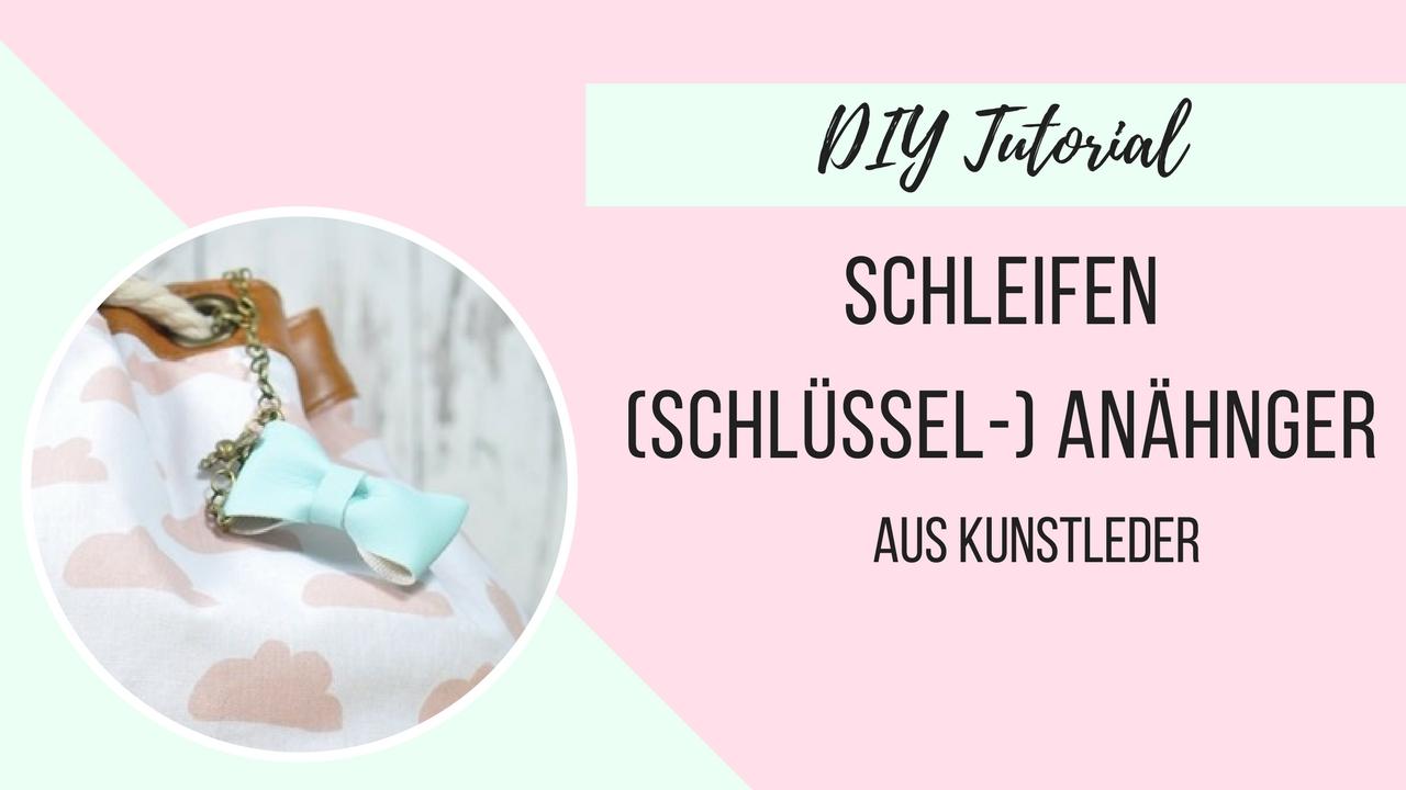 DIY Anleitung Anhänger Schleife aus Kunstleder