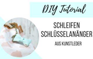 DIY Anleitung Schleifen Anhänger aus Kunstleder
