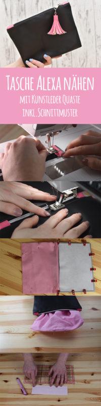 Tutorial] Tasche Alexa mit Quaste nähen + Video und Schnittmuster ...