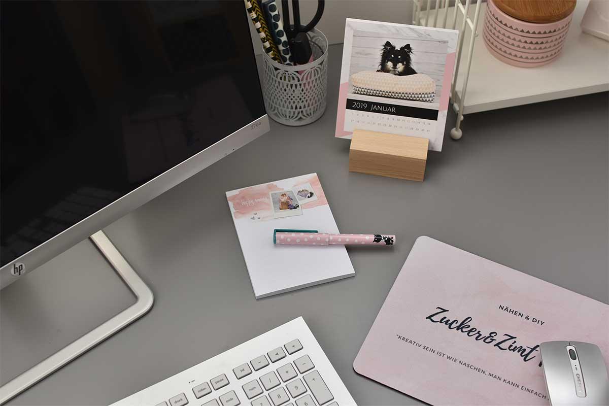 Smartphoto Tischkalender Notizblock und Mousepad