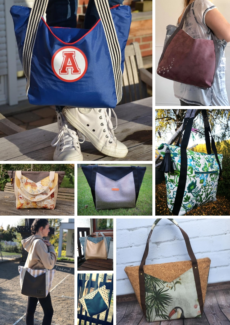 Schnittmuster Tasche Kira Zucker und Zimt Design