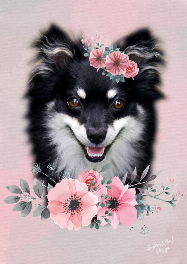 DIY Hundefotos im Watercolor Look