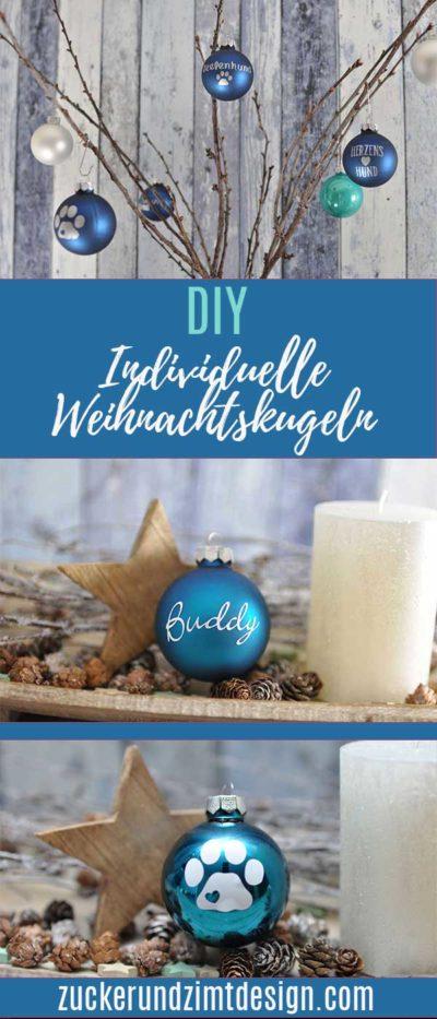 DIY individuelle Weihnachtskugel