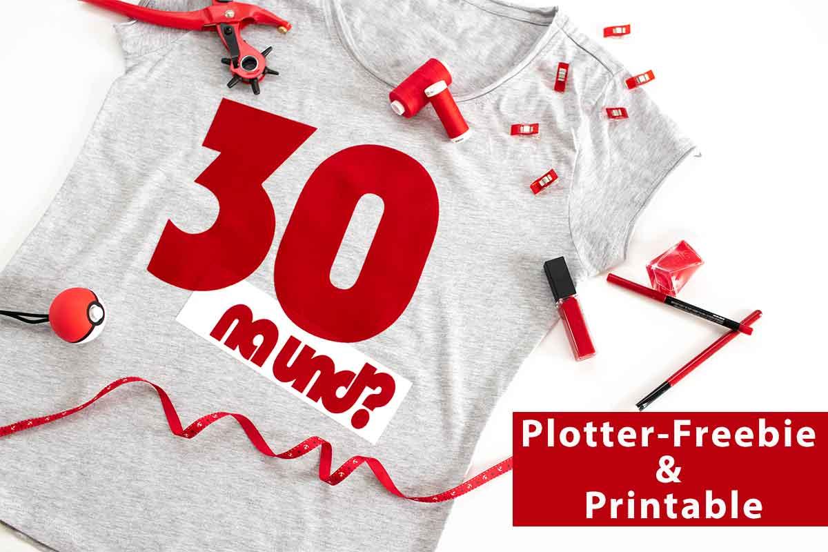 Plotter Freebie & kostenloses Printable –  30 na und?