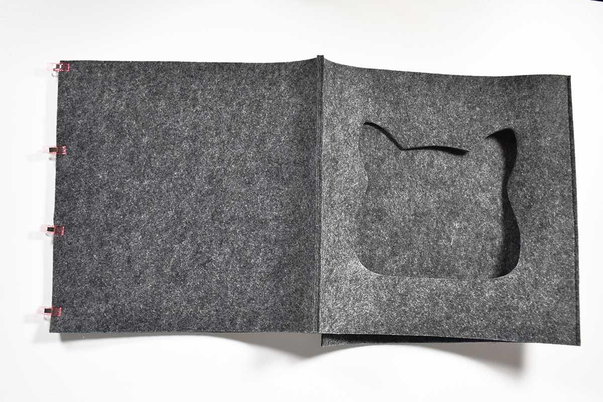 Schnittmuster und Nähanleitung Katzenhöhle aus Filz