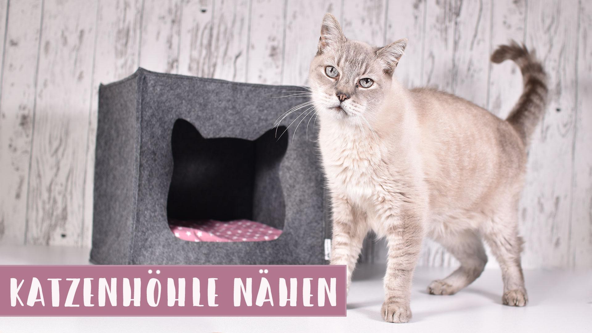 Schnittmuster Katzenhöhle aus Filz (für IKEA KALLAX Regal) || Mit Video Tutorial