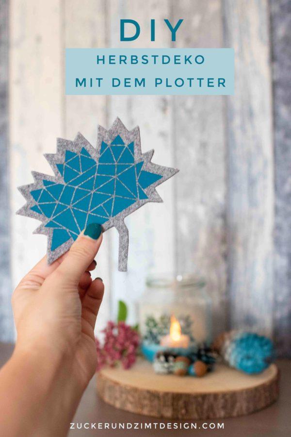 DIY Anleitung Herbstdeko mit dem Plotter