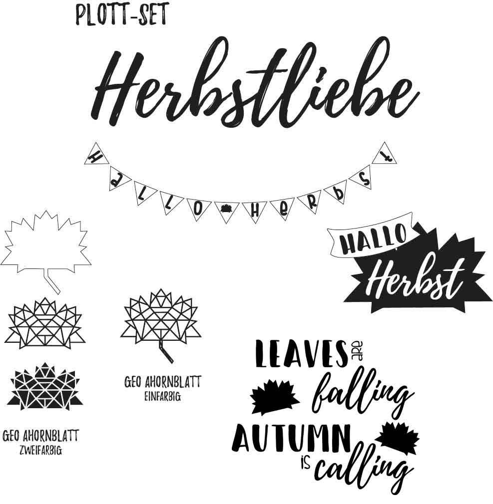 Plott-Set Herbstliebe
