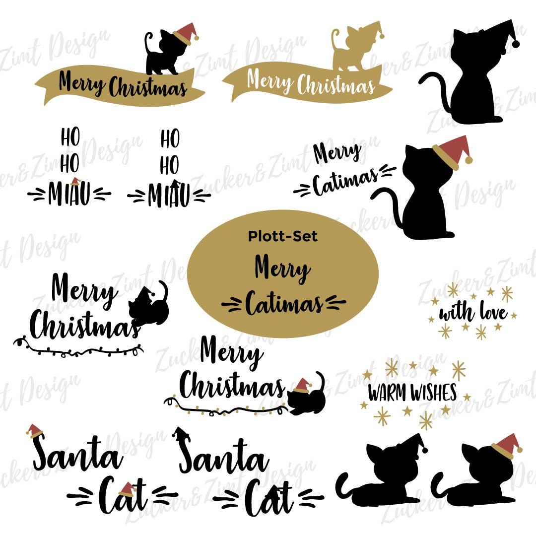 Plotterdatei Set Merry Catimas