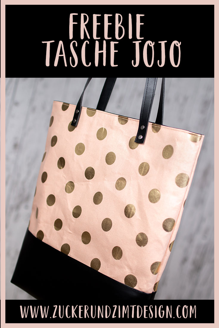 Kostenlose Nähanleitung Tasche JoJo || www.zuckerundzimtdesign.com