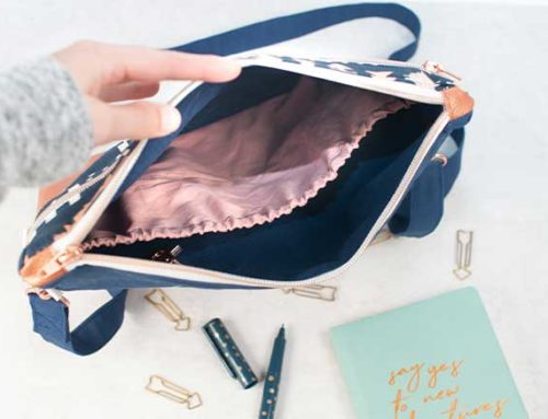 Innentasche mit Gummizug nähen || Erweiterung Tasche Milow