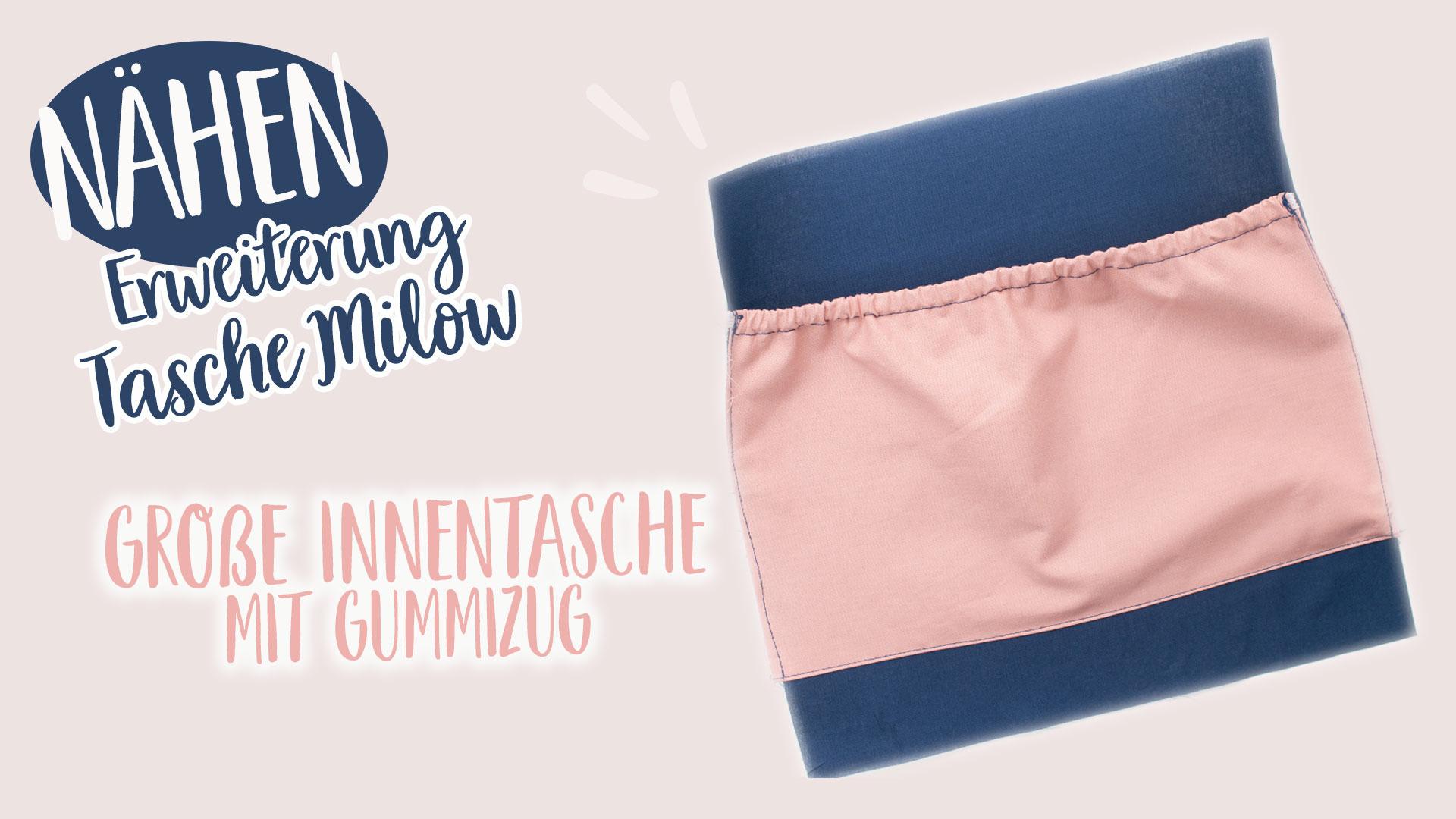 Nähanleitung Innentasche mit Gummizug | Erweiterung Tasche Milow || www.zuckerundzimtdesign.com