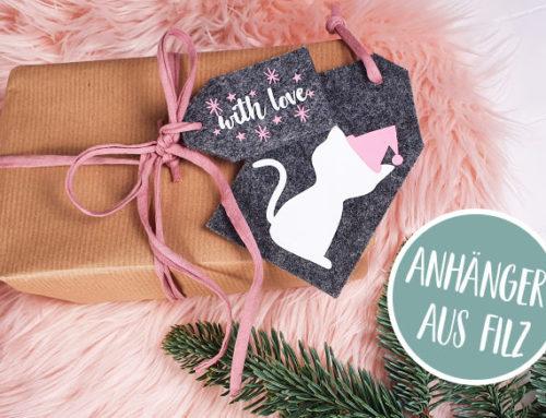 Anhänger aus Filz || Katzen sicherer Weihnachtsschmuck