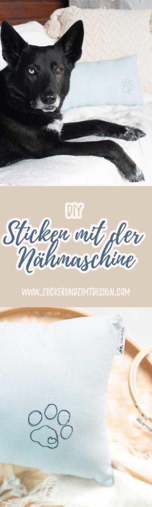 DIY Sticken und malen mit der normalen Nähmaschine - www.zuckerundzimtdesign.com