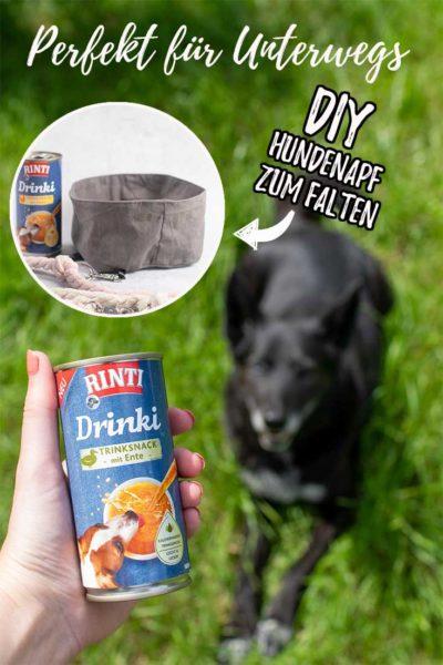 DIY für Hunde: kostenloses Schnittmusterfaltbarer Hundenapf    www.zuckerundzimtdesign.com